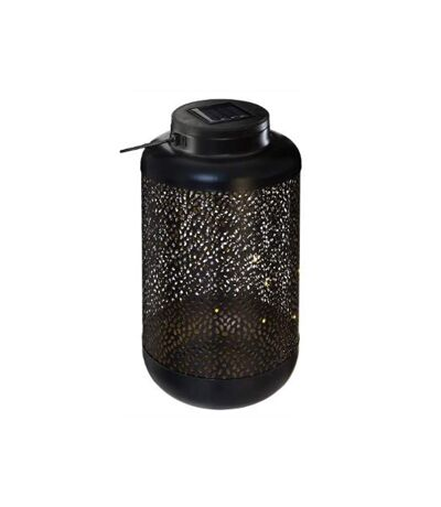 Lanterne Solaire en Métal Suspension 25cm Noir