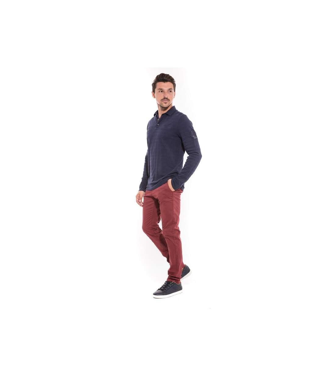 Polo manches longues en coton PASTIS - RITCHIE