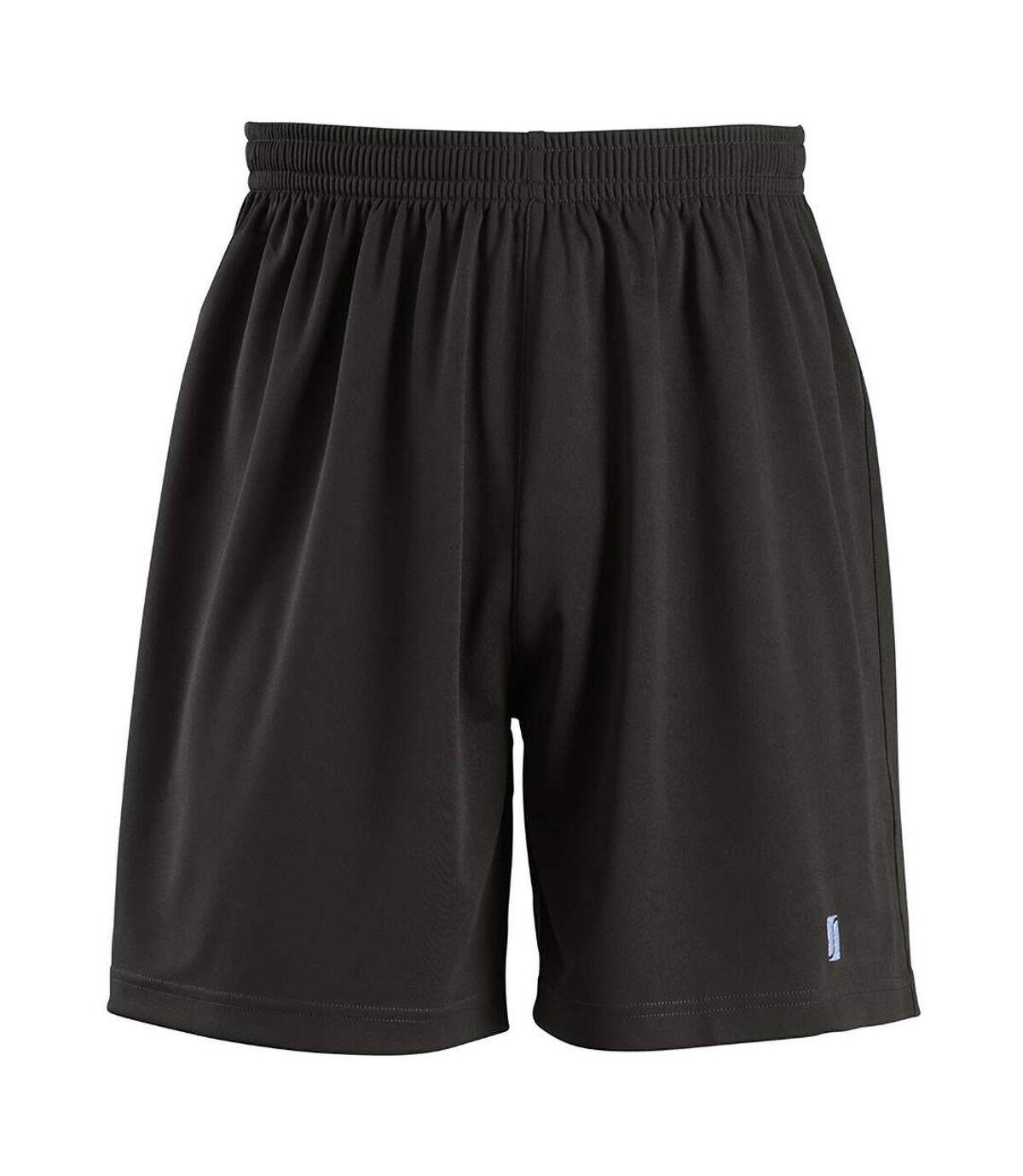 SOLS Mens San Siro 2 Sport Shorts (Black) - UTPC2177