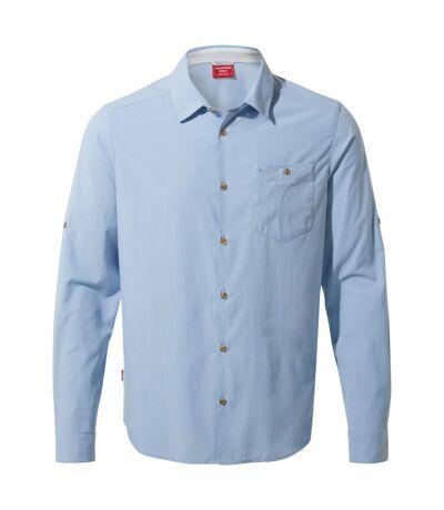 Craghoppers Mens NosiLife Nuoro Long Sleeved Shirt (Harbour Blue) - UTCG1119