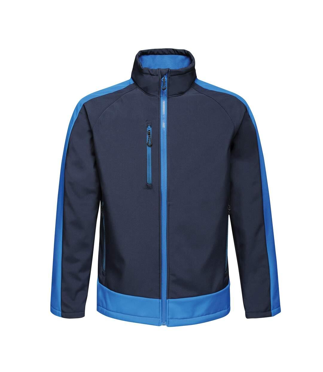 Regatta Contrast Mens 3-Layer Printable Softshell Jacket (Navy/New Royal) - UTRW6355