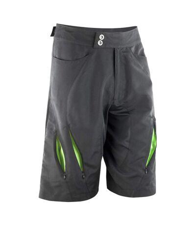 Spiro Mens Bikewear Off Road Cycling Shorts (Black/Lime) - UTRW3360