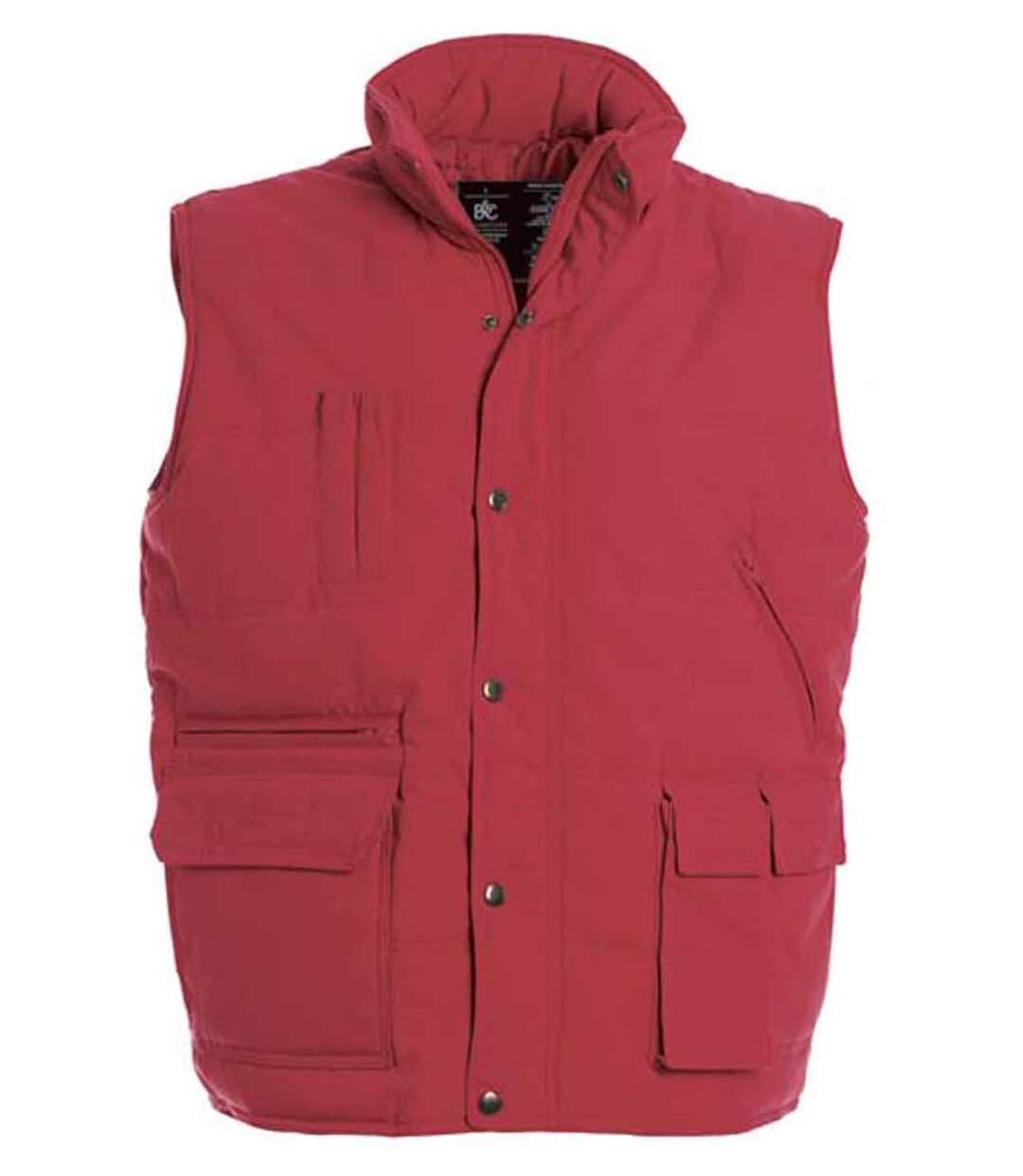 Doudoune anorak homme sans manches - Bodywarmer JU880 - rouge