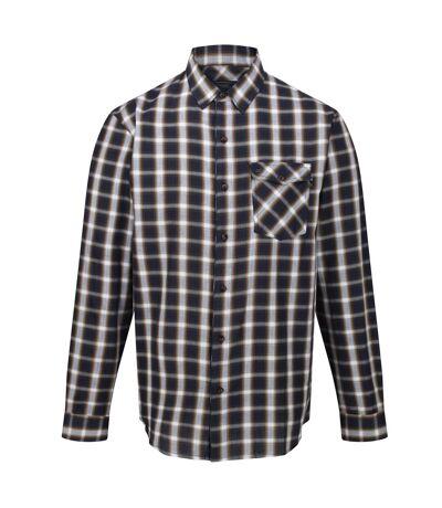 Regatta Mens Classic Checked Long-Sleeved Casual Shirt (Navy) - UTRG5507