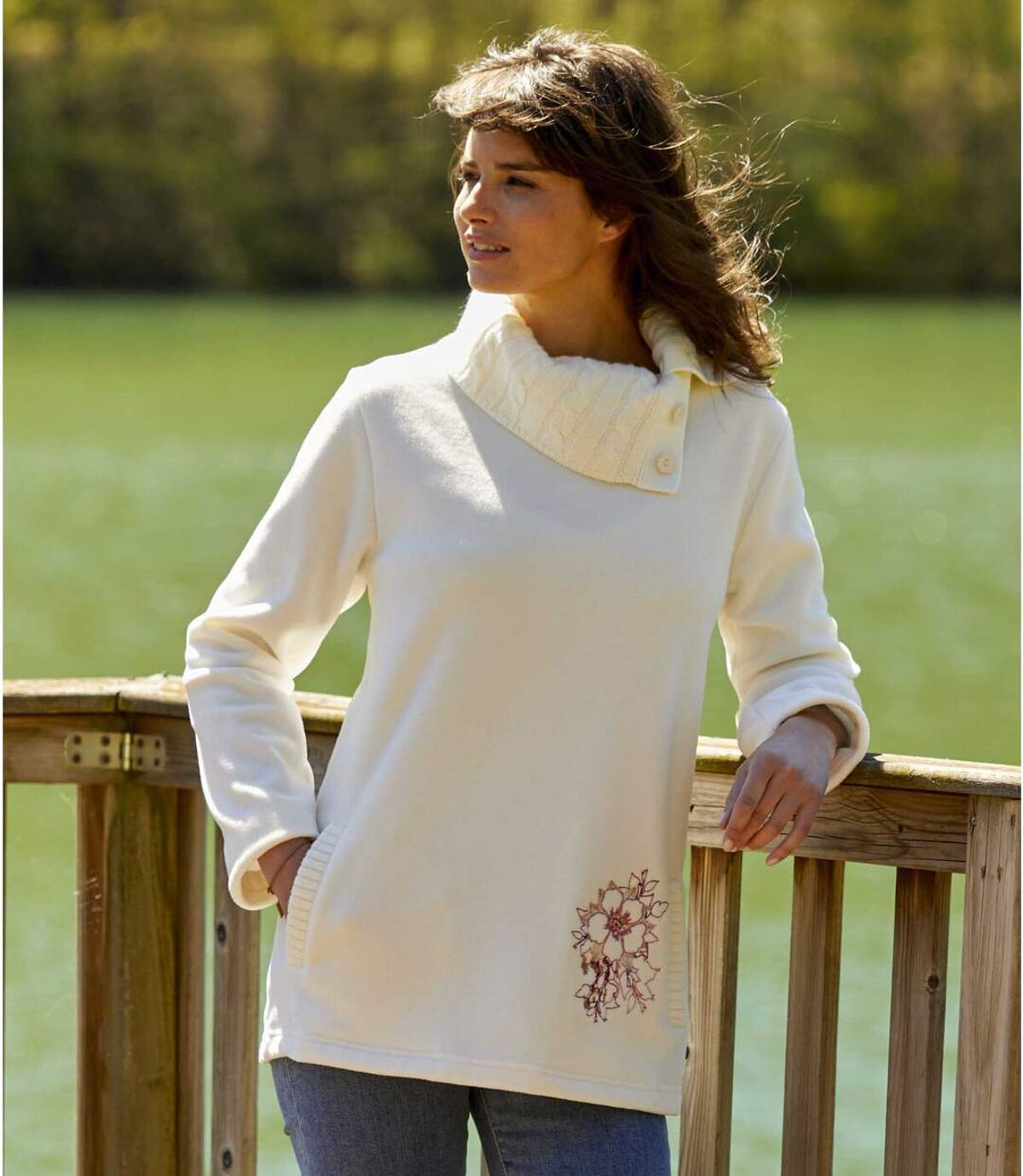 Pullover aus Strick und Fleece Atlas For Men