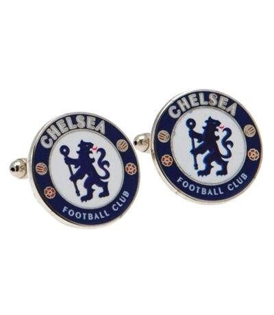 Chelsea FC - Boutons de manchette (Bleu/Blanc) (Taille unique) - UTSG1641