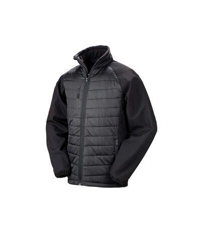 Result Mens Black Compass Padded Soft Shell Jacket (Black/Black) - UTPC3326