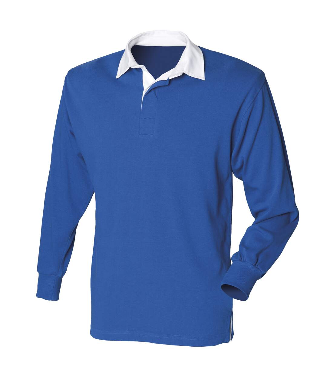 Front Row Mens Long Sleeve Sports Rugby Shirt (Royal) - UTRW473