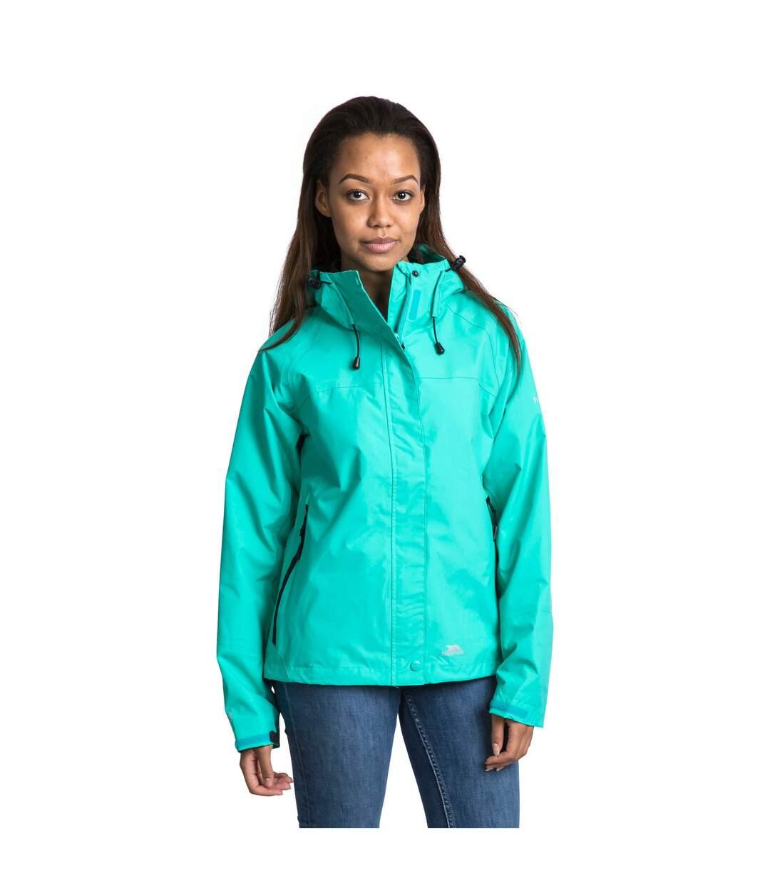 Trespass Womens/Ladies Miyake Hooded Waterproof Jacket (Bermuda) - UTTP165