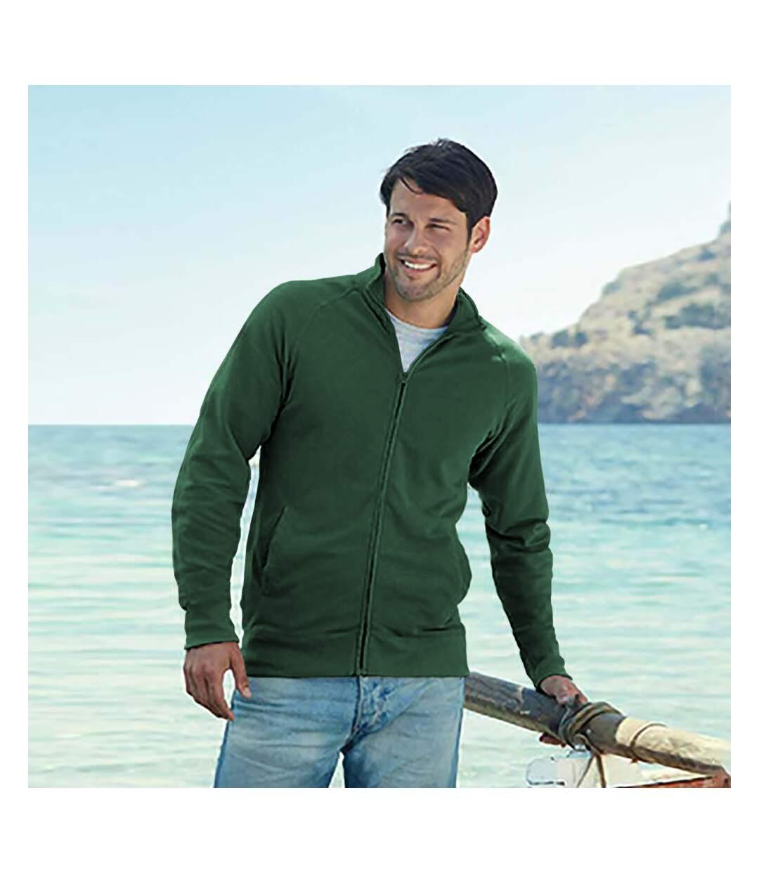 Fruit Of The Loom Mens Lightweight Full Zip Sweatshirt Jacket (White) - UTRW4500