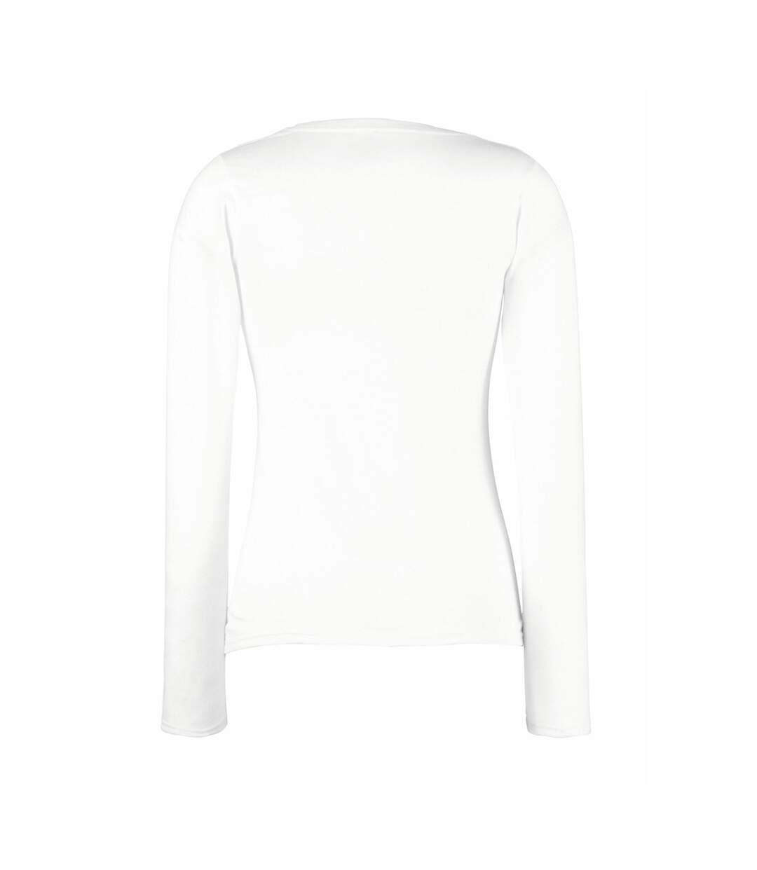 Fruit Of The Loom - T-Shirt À Manches Longues - Femme (Blanc) - UTBC1362
