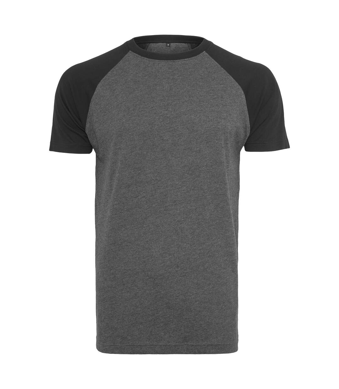 Build Your Brand Mens Raglan Contrast Tee (Charcoal/Black) - UTRW5817
