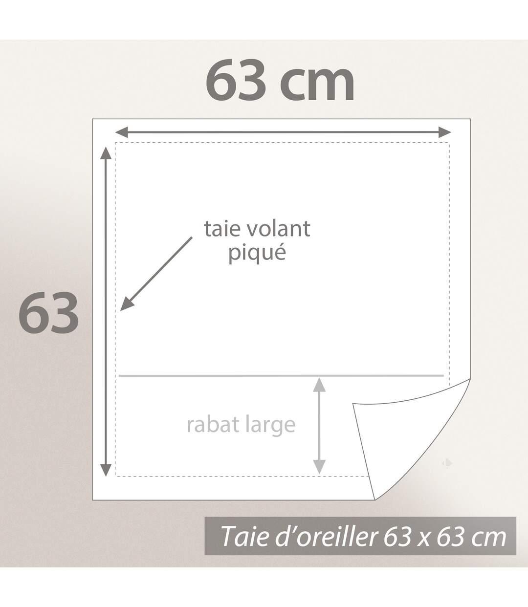 Parure de lit 240x220 cm percale de coton PAST Bleu Canard 3 pièces