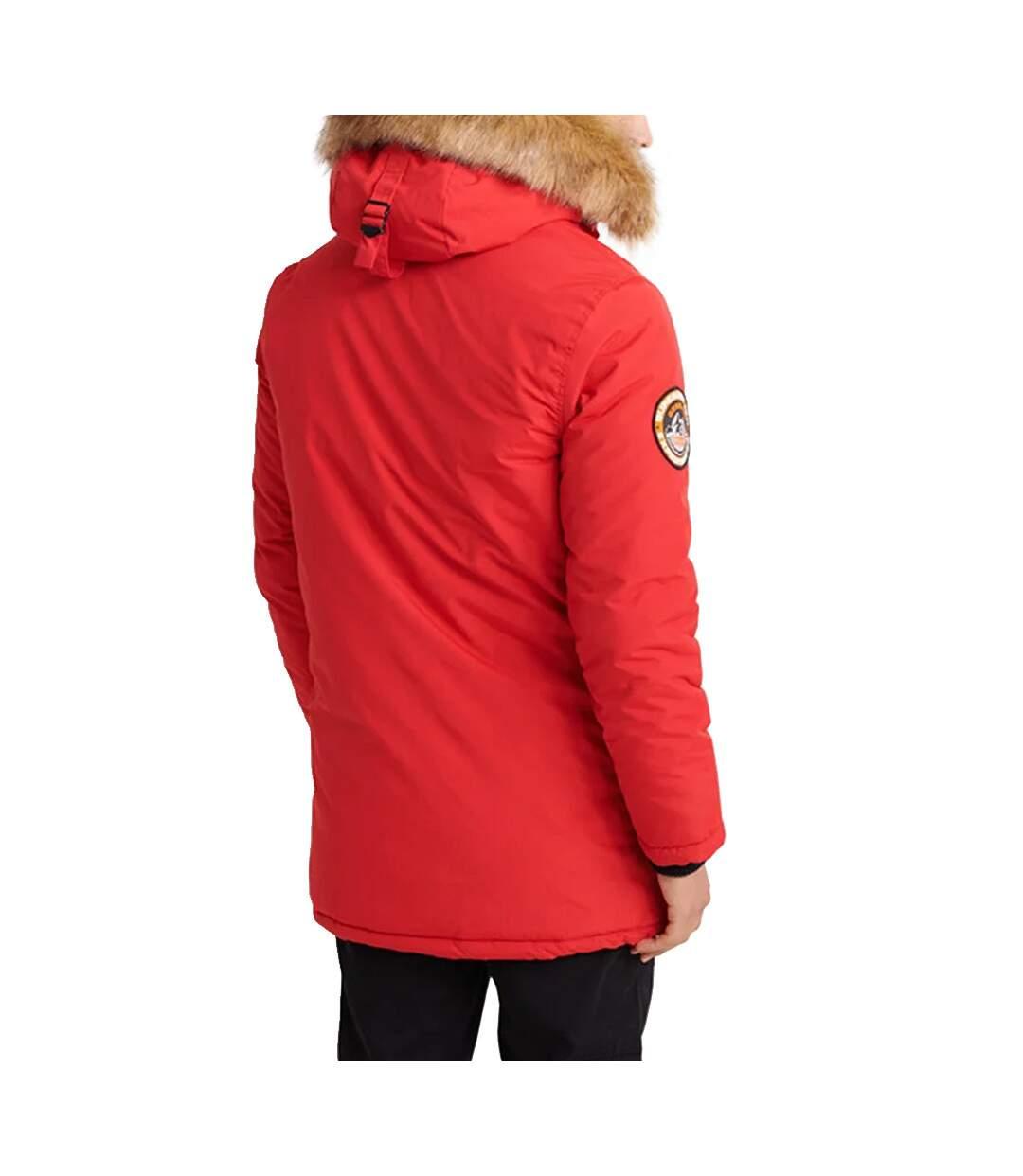 Parka Rouge Homme Superdry Everest