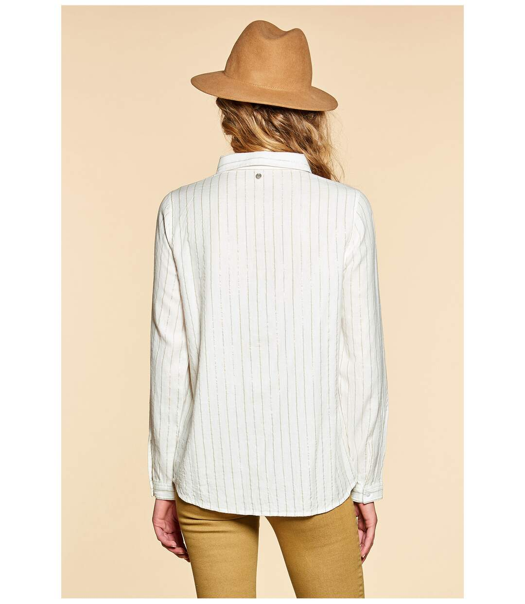 Chemise à fines rayures GLADYS Off White