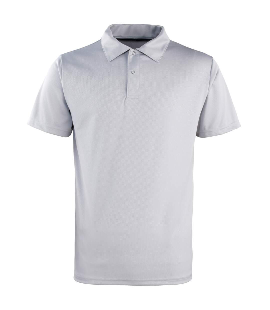 Premier Unisex Coolchecker Studded Plain Polo Shirt (Turquoise) - UTRW1110