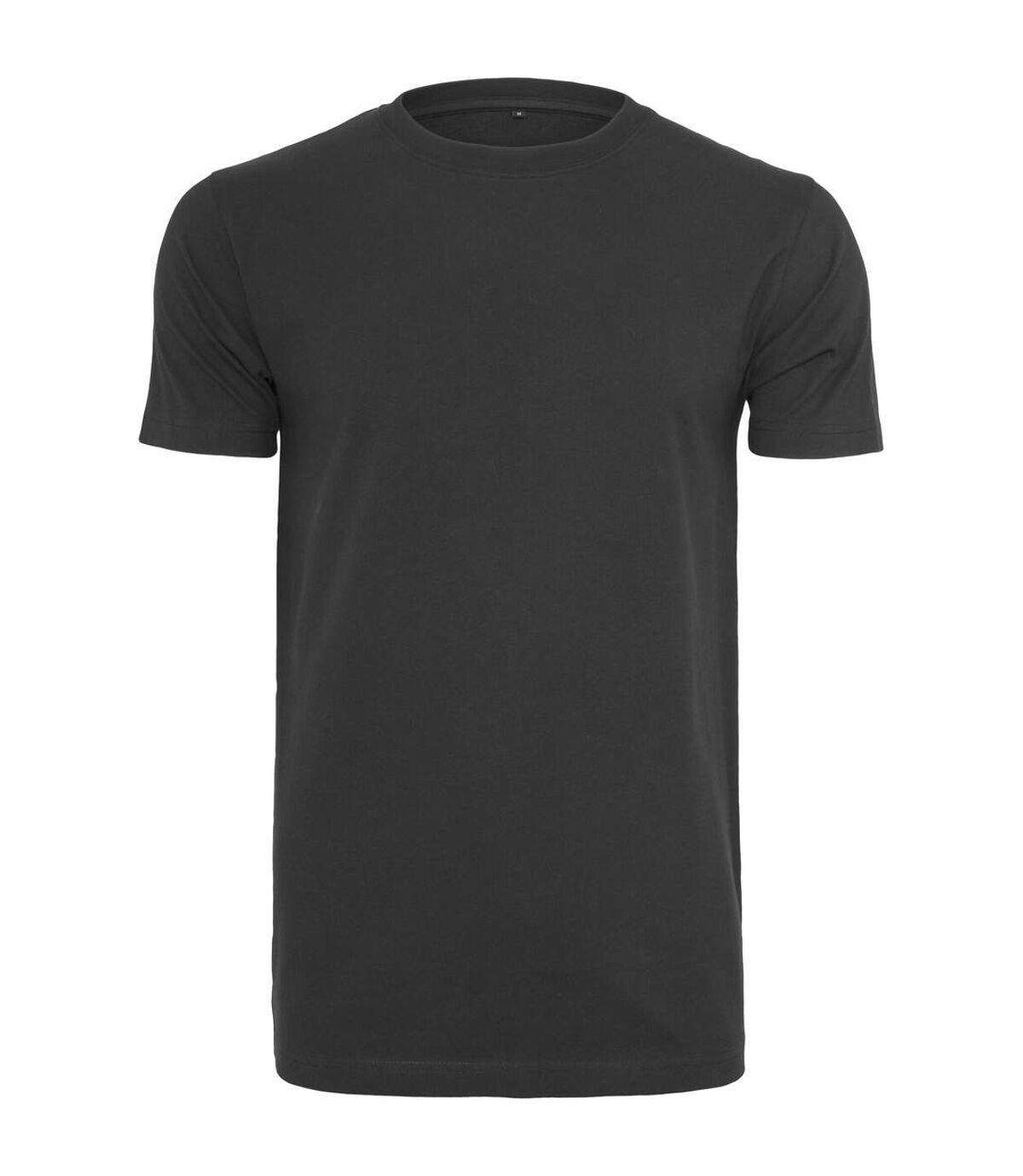 Build Your Brand Mens T-Shirt Round Neck (Black) - UTRW5815