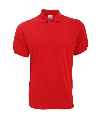 B&C Safran Mens Polo Shirt / Mens Short Sleeve Polo Shirts (Red) - UTBC103