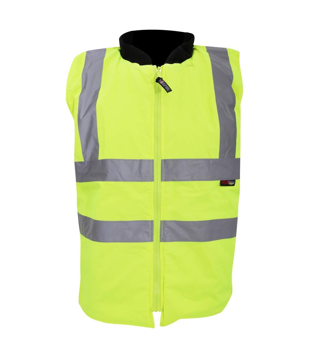Warrior Mens Phoenix High Visibility Safety Bodywarmer Jacket (Fluorescent Yellow) - UTPC271