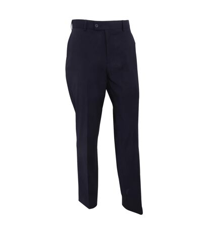 Brook Taverner Mens Cassino Slim Fit Formal Work/Suit Trousers (Navy) - UTRW4106
