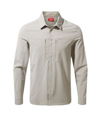 Craghoppers Mens NosiLife Pro IV Long Sleeved Shirt (Parchment) - UTCG1299