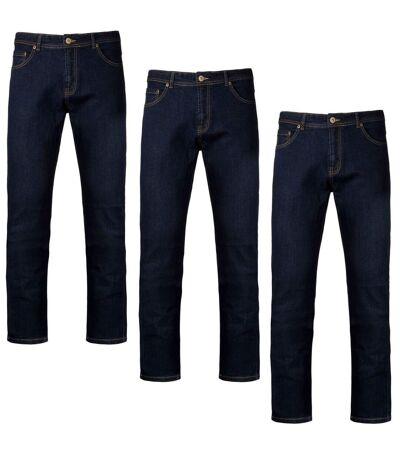 Lot 3 pantalons - jean pour homme - K742 - bleu
