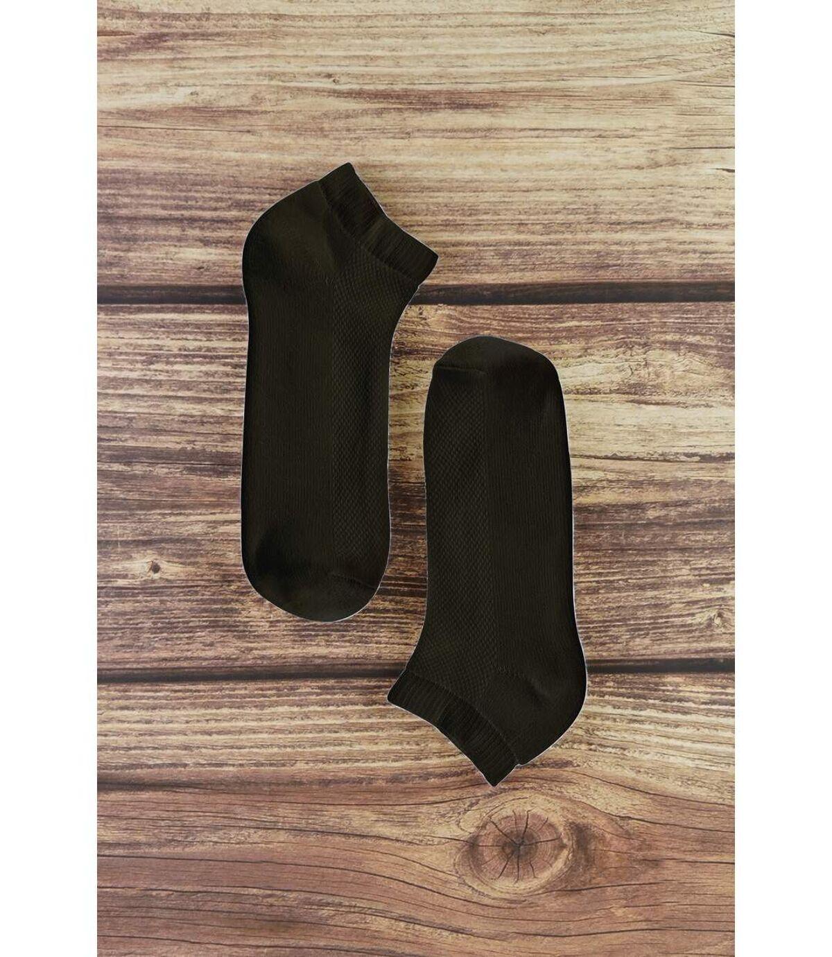 6 Pk Mens Bamboo Organic Cotton Trainer Socks