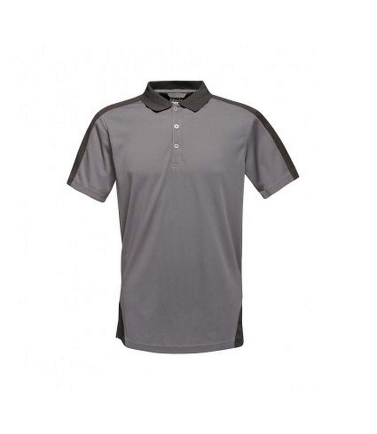 Regatta Contrast Coolweave Pique Polo Shirt (Black/Classic Red) - UTPC3304