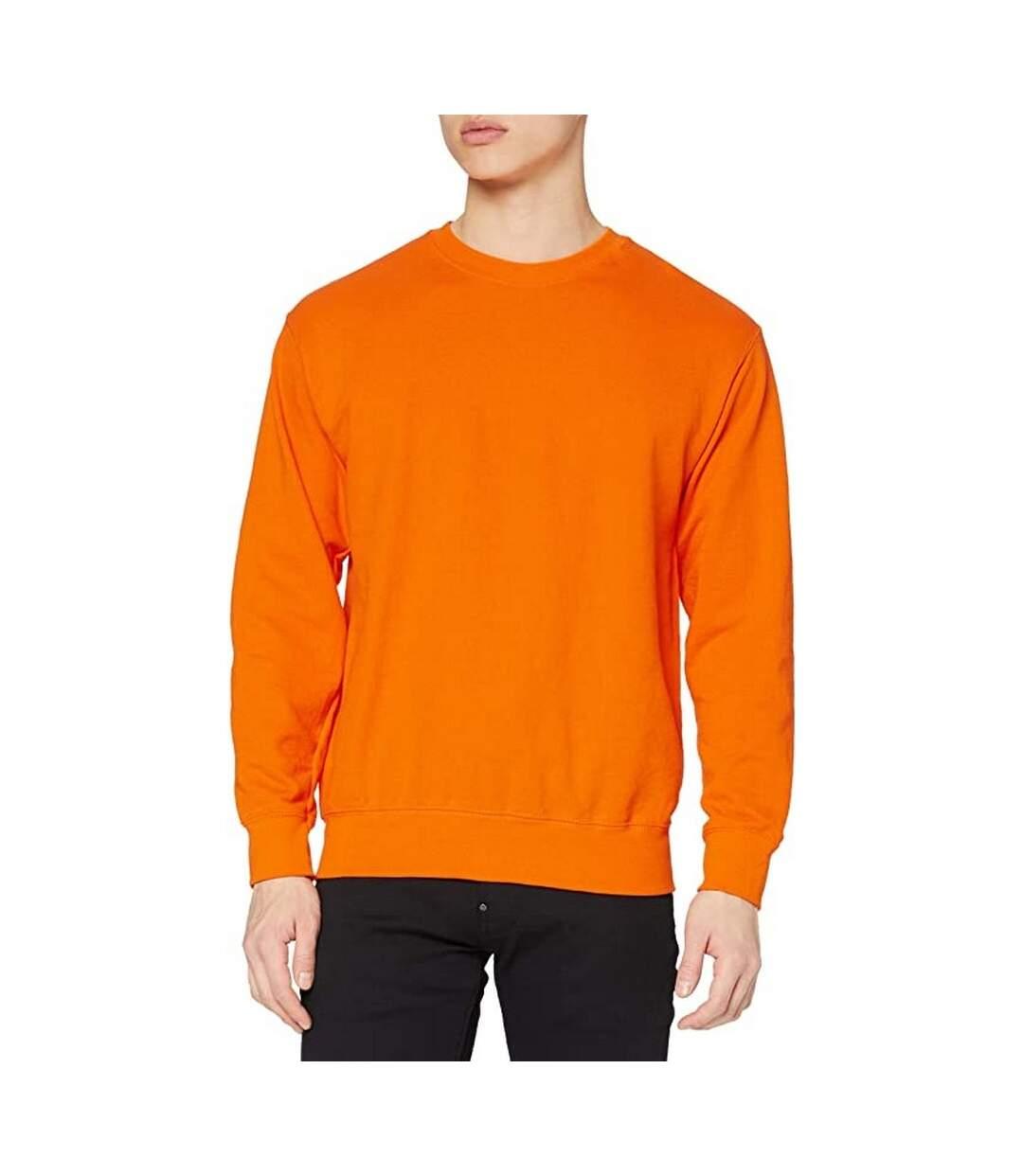 Fruit Of The Loom Mens Lightweight Set-In Sweatshirt (Orange) - UTRW4499