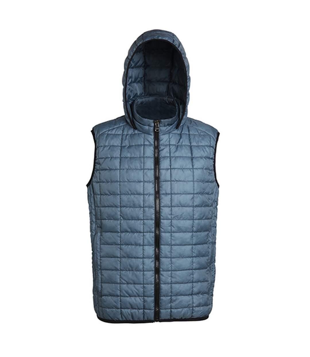 2786 Mens Honeycomb Zip Up Hooded Gilet/Bodywarmer (Steel) - UTRW5261