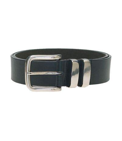 Duke Mens Noah D555 Double Metal Loop Belt (Black) - UTDC117