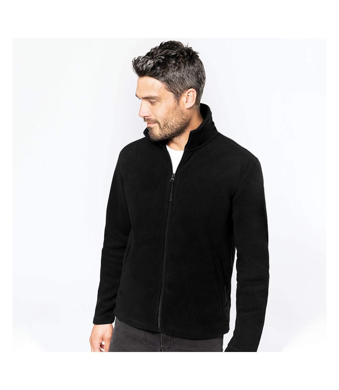 Kariban Mens Full Zip Anti Pill Microfleece Jacket (Black) - UTRW4222