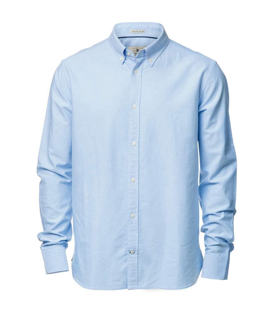 Nimbus Mens Rochester Oxford Long Sleeve Formal Shirt (Light Blue) - UTRW3633