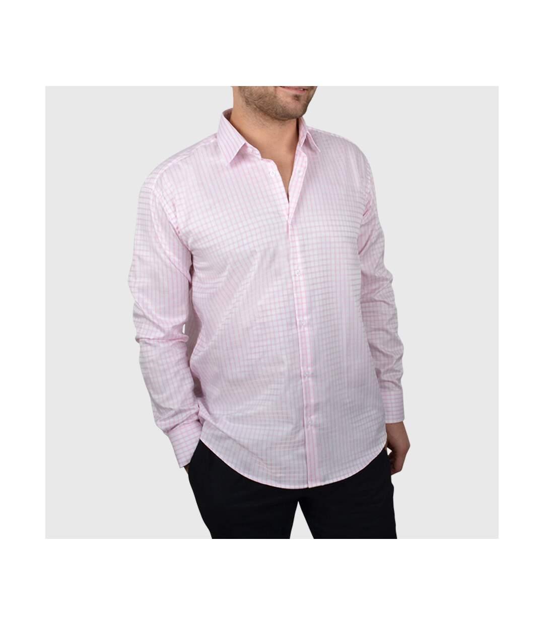 Chemise homme à carreaux roses - Chemise NON CINTRÉE