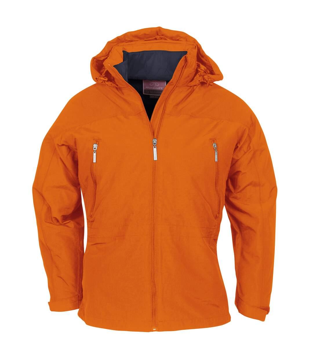 Result Womens/Ladies La Femme® Waterproof & Breathable 3-in-1 Performance Jacket (Tangerine Outer/ Navy Inner) - UTRW3236
