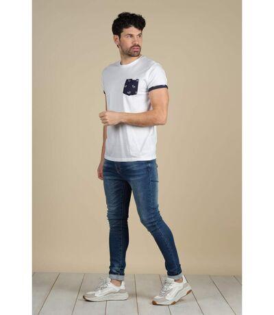 T-shirt avec détails à imprimé floral OASIS White