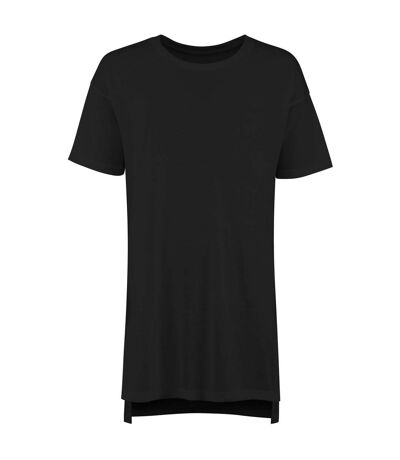 Comfy Co Womens/Ladies Oversized Sleepy T Short Sleeve Pyjama T-Shirt (Black) - UTRW5319