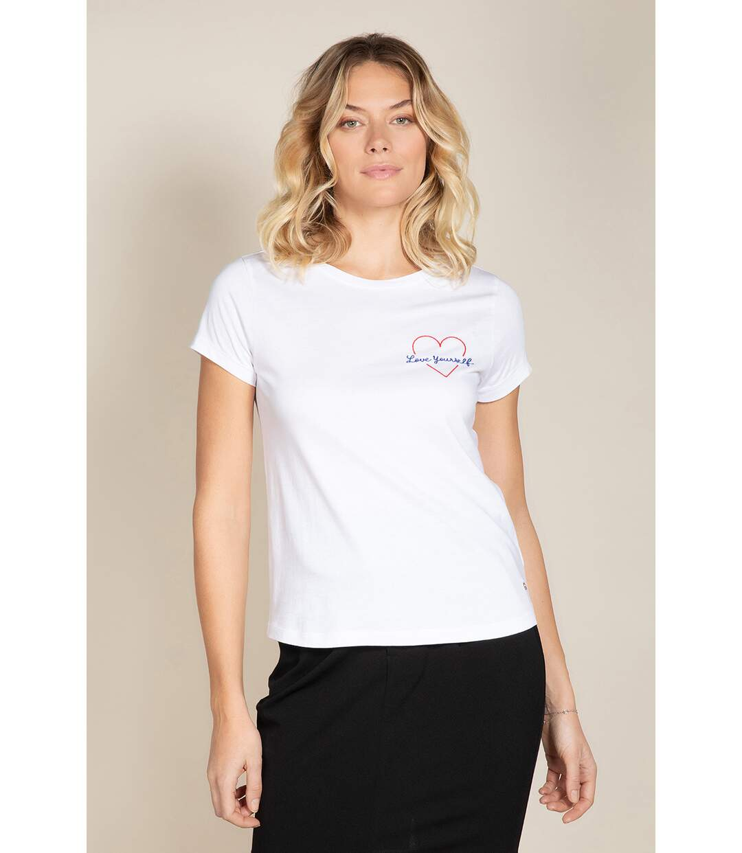 T-shirt à message col rond LOVE Off White