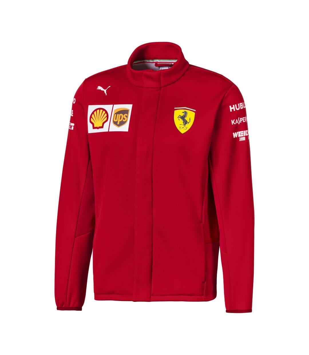 Veste rouge homme Puma Ferrari SF Team Softshell