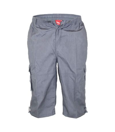Duke Mens Mason Kingsize Cargo Capri Shorts (Grey) - UTDC250