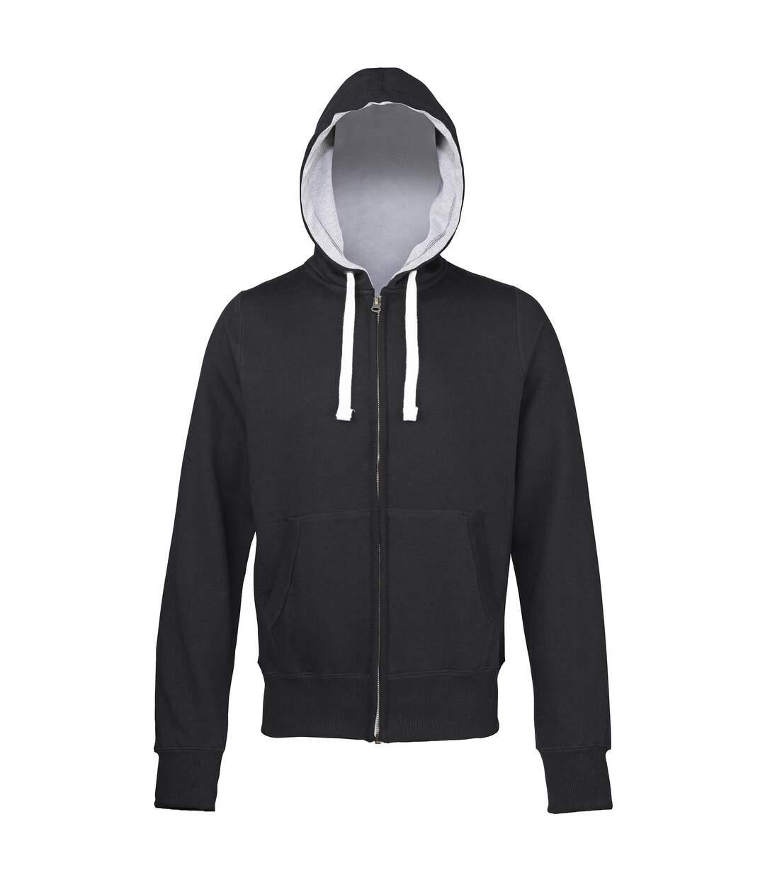 Awdis - Sweatshirt À Capuche Et Fermeture Zippée - Homme (Gris) - UTRW181