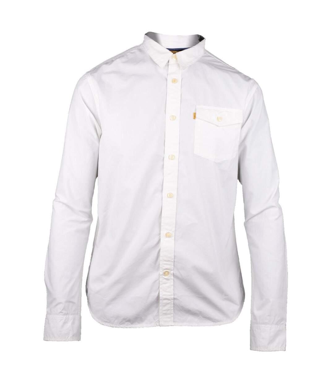 Caterpillar Exchange Mens Long Sleeve Casual Cotton Shirt (White) - UTFS3065