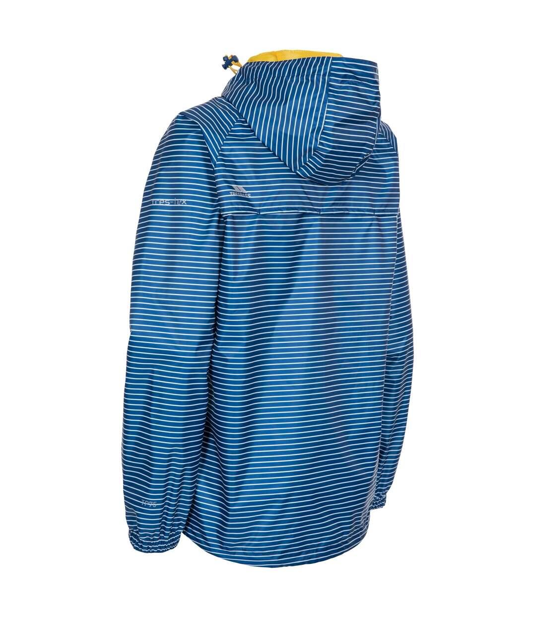Trespass Womens/Ladies Indulge Waterproof Packaway Jacket (Blue Moon Stripe) - UTTP4649