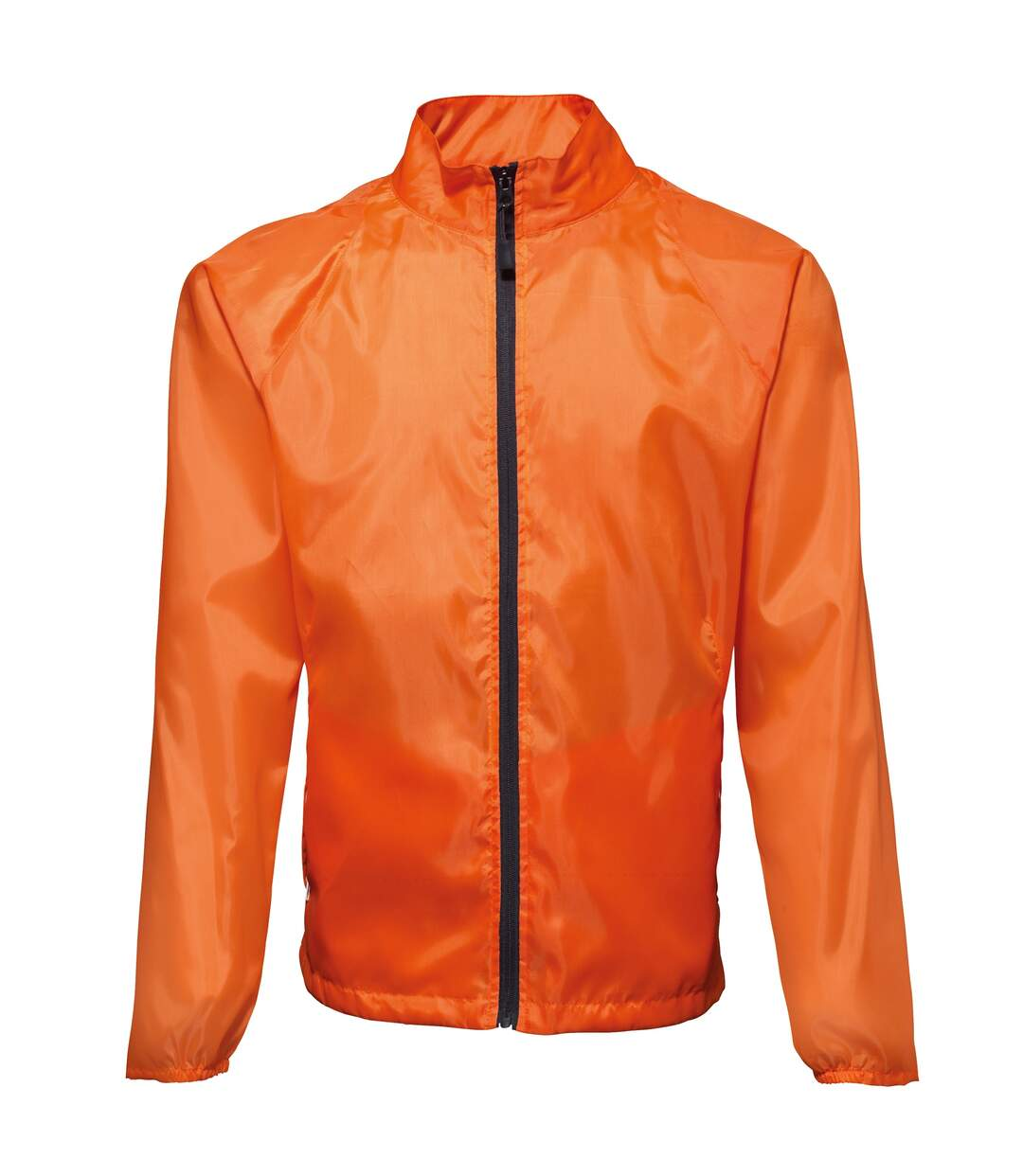 2786 Mens Contrast Lightweight Windcheater Shower Proof Jacket (Pack of 2) (Orange/ Black) - UTRW7001