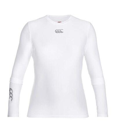 Canterbury Mens ThermoReg Long Sleeve Base Layer Top (White) - UTPC2842