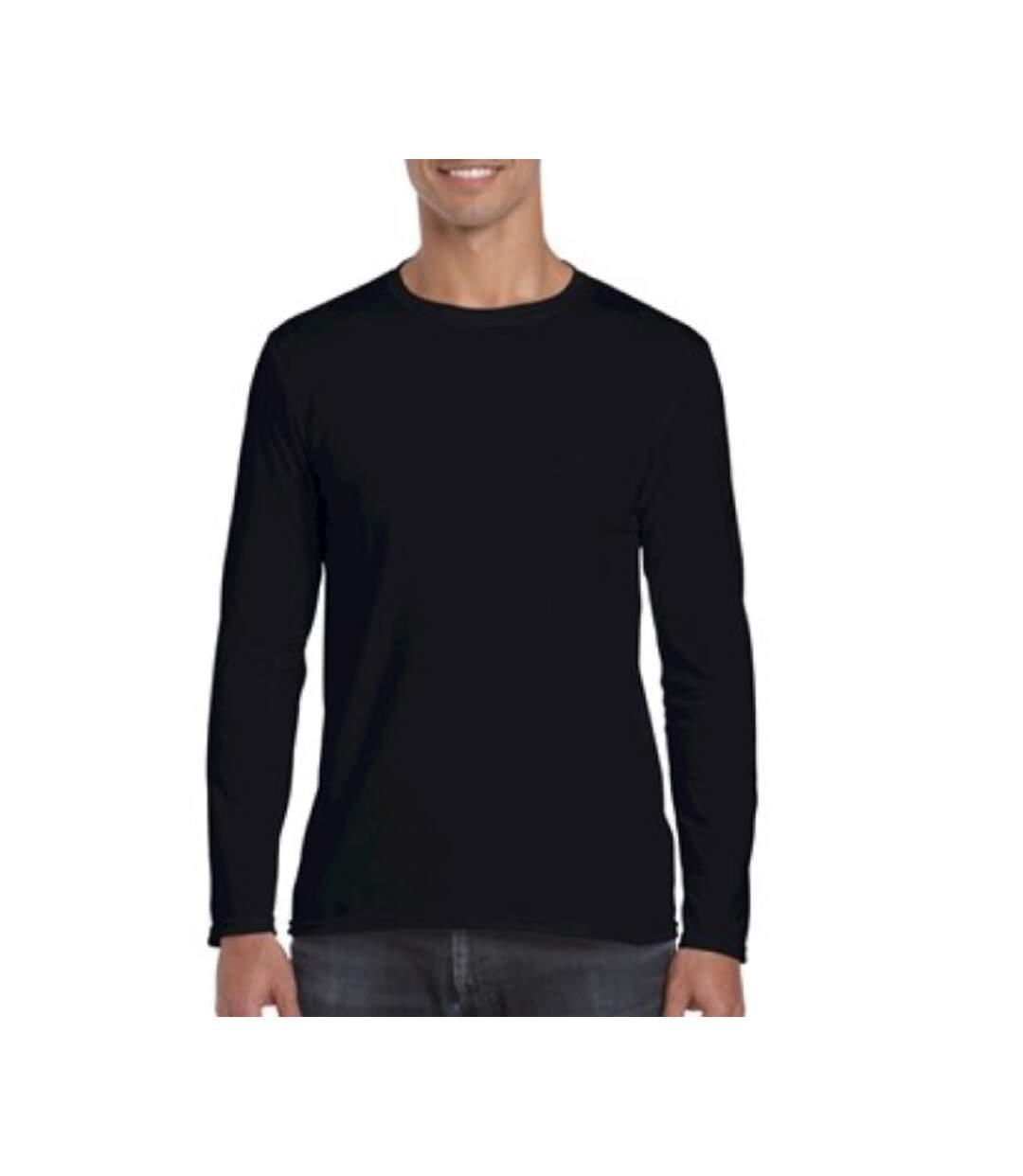 Gildan Mens Soft Style Long Sleeve T-Shirt (Pack Of 5) (Royal) - UTBC4808