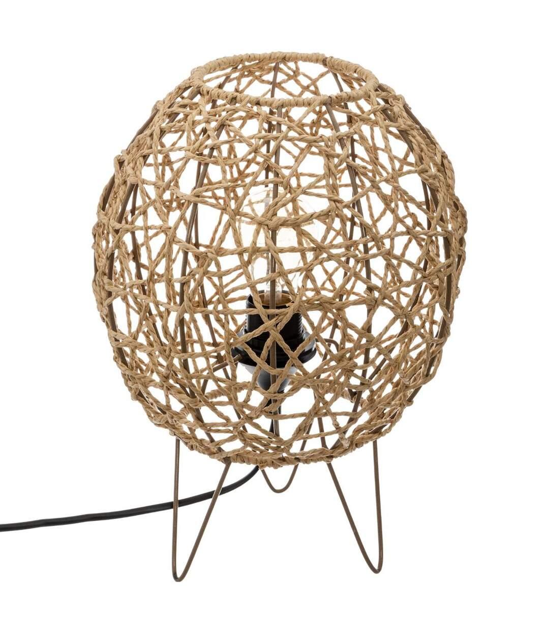 Atmosphera - Lampe à poser Boule sur pied métal Raahe D 26 cm