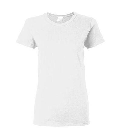 Gildan - T-shirt à manches courtes coupe féminine - Femme (Blanc) - UTBC2665