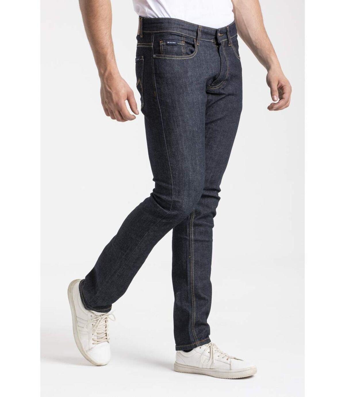 Jeans RL80 stretch coupe droite ajustée brut noir