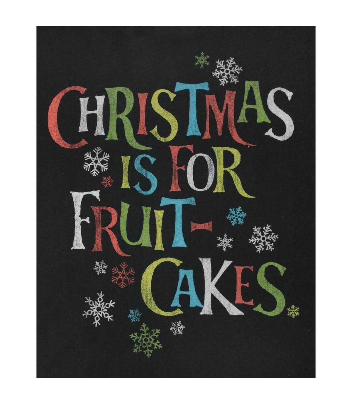 Junk Food Mens Christmas Is For Fruit-Cakes T-Shirt (Black) - UTNS5543